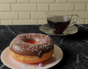 3D model Donut and a Coffee Cup