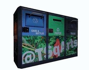 New York Green Trash Can 3D model
