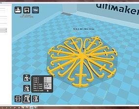 Snowflake 3D print model christmas-bauble