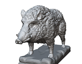 3D print model boar sculpture
