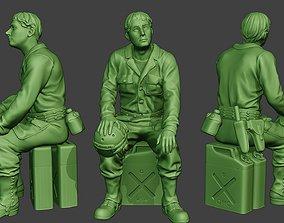 American Tank Crew unit ww2 Sit ATC1 3D printable model