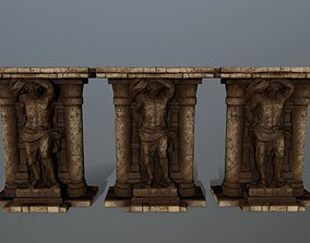 3D asset low-poly sculpture statue 2