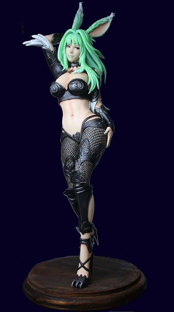 Viera Rabbit - Final Fantasy XIV Painted