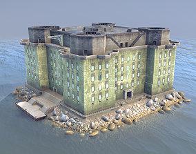 3D asset WW2 FlakTurm IV Island