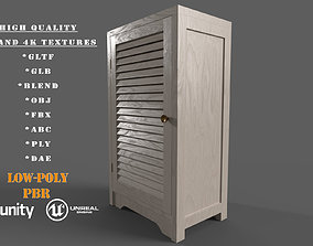 realtime Wooden Material Cabinet Low-Poly PBR Game Ready 1