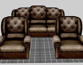 3D model realtime Sofa Set
