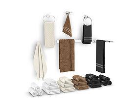 3D model Set of towels for bathroom set 01