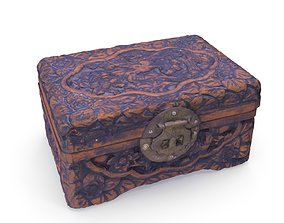Small Chinese Chest 06 - Low and High Poly 3D model