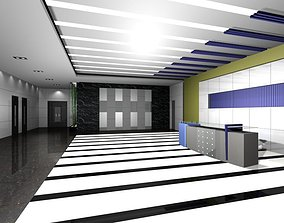 Luxury architectural Hall Lobby 3D