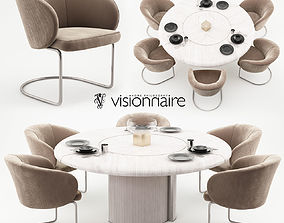 3D Carmen chairs and Opera table - Visionnaire Home