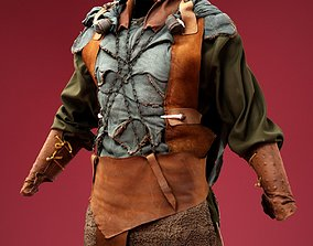 Bear Hunter Costume 3D model