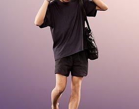 11562 Ajay - Asian man casual with headphones 3D