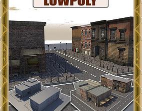 Lowpoly City Part A4 3D