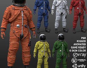 3D asset CS02 Male Space Suit FULL VERSION