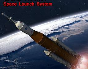 SLS Rocket Space Launch System 3D