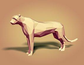LowPoly Cartoon Cheetah 3D model