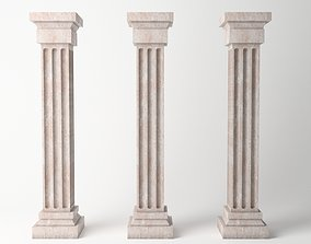 3D asset Antique Column 05