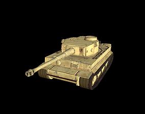 WWII Tiger 1 Tank 3D asset