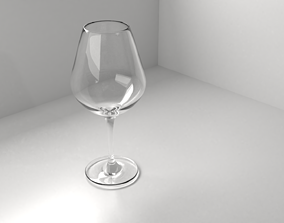 3D Wine Glass 4