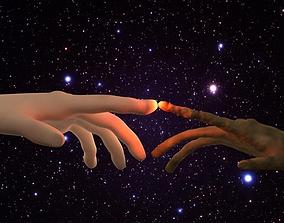 3D ET Alien Touching Man