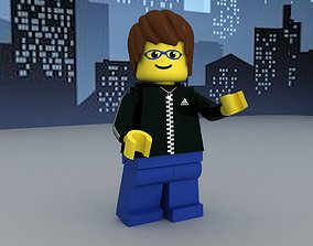 Lego guy with adidas hoodie 3D