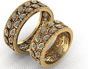 3D printable model Two wedding rings