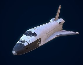 3D model VR / AR ready space Space Shuttle