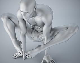3D print model Man yoga 002