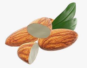Nuts almond 02 3D model