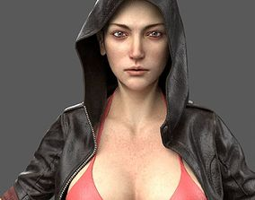 Gun Girl Character 3D model