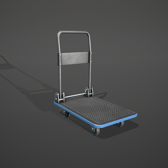 Blue Accent - Folding Platform Truck - Tolley