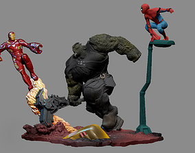 3D print model IRONMAN SPIDERMAN AVENGERS INFINITY WAR 2