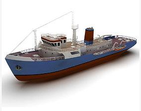 3D asset realtime Support ship