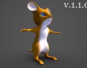 Standing Mouse Character 3D asset