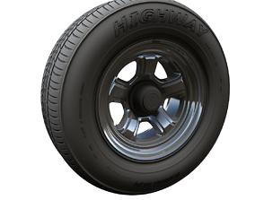 Dodge highpoly wheel 3D model