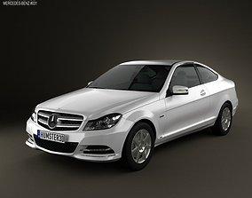 3D model Mercedes-Benz C-class coupe 2012
