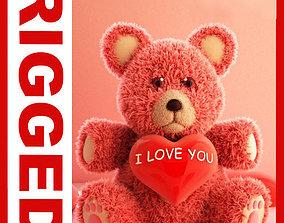 3D asset Valentine Teddy Bear