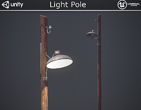 Light Pole 3D model VR / AR ready