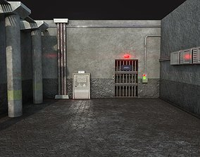 Prison Security Room - Backdrop Scene Low Poly 3D model 2