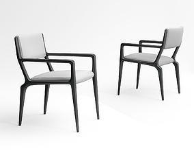 3D model realistic Holly Hunt Brava dining armchair