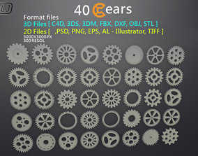 game-ready 40 Gears 3D-2D Format files