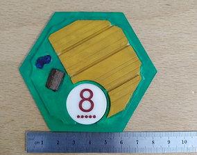 3D Catan Tile Wheat board-games