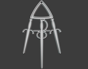 The silver pendant 3d print master model jewelry