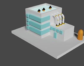 Low poly Factory 3D model
