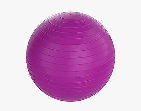 Fitness exercise ball 3D