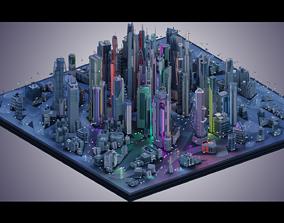 Futuristic City plus Cars nr 1 3D