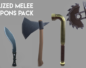 3D asset Stylized Melee Weapons Pack