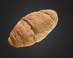 croissant 3D asset VR / AR ready