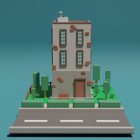 Lowpoly Building