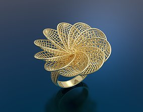 gold paper Ring ultra vision 3D print model